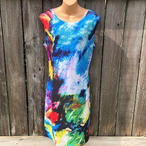 Nally & Millie Multicolor Tie Dye Tank Dress M/L
